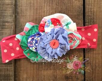 Strawberry Crumble Headband {M2M Matilda Jane}
