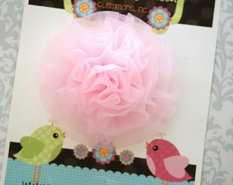 Pink Tulle Hair Clip, Tulle Hair Clip, Pink Hair Clip, Tulle Bow, Toddler Hair Clip, Girls Hair Clip, Toddler Hair Clips, Toddler Bow