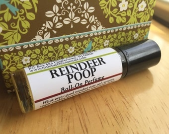 Reindeer Poop Perfume Oil, vegan perfume, Christmas perfume, winter perfume, unusual perfume, red currant, sugar cookies, spruce, candy cane
