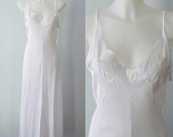 Romantic, Bridal, Nightgown Vintage Nightgown, Vintage White Nightgown, Patricia, 1970s Nightgown, Vintage Lingerie, Wedding