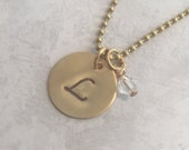 Brass Stamped Necklace