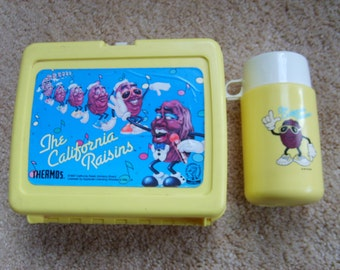 California Raisin Lunch Box and Thermos by Thermos, Vintage Lunch Box