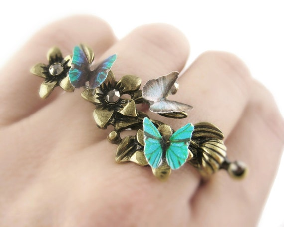 Butterfly Twig Ring