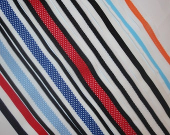"3 yards Athletic Mesh NON stretch stripe striped sewing trim 1"" -  1.5"" wide"
