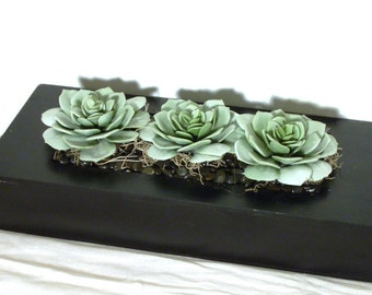 Free Shipping On This Ready To Ship Faux Succulent Black Planter Table Garden Centerpiece