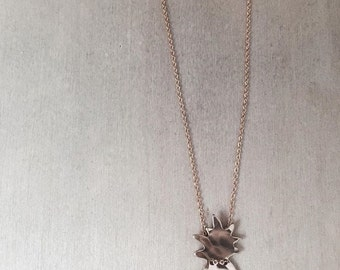 Pineapple Button Necklace