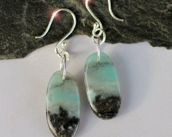 The Rocky Coast - Amazonite and Sterling Silver Earrings