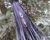 Witch Broom in Lavender and Black, Black and Purple Witches Broom, Wiccan Altar Broom, Witchcraft, Made to Order in Full Size/Handfasting