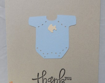 6 Handmade Baby Boy Thank You Cards
