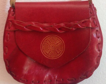1970'S vintage Raw Leather purse
