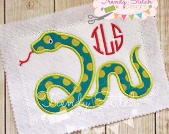 Snake Applique Machine Embroidery Design INSTANT DOWNLOAD