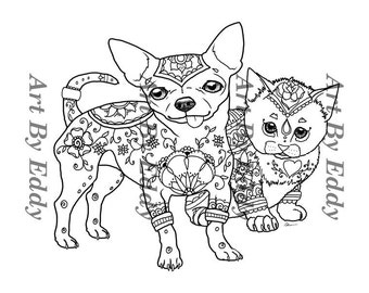 chihuahua coloring pages online - photo#30