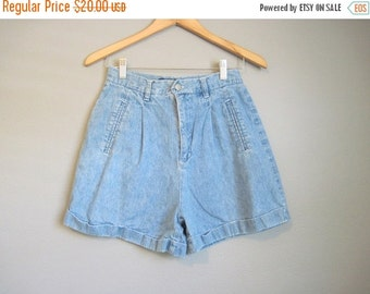 20% Off FALL SALE High Waisted Jean Shorts Vintage Cuffed Denim Small Medium