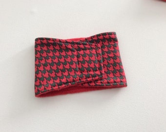 Dog Diaper - Male Dog - Belly Band - Red and Green Houndstooth - Available in all Sizes