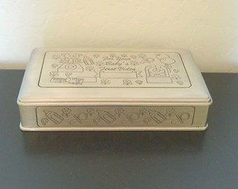 Pewter Box - Baby's First Video VHS Container