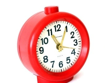 25% SALE OFF Vintage Russian mechanical alarm clock Jantar