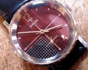 25 OFF SALE Mens watch men watch Pobeda Zim, men's watches, mechanical watch, brown watch