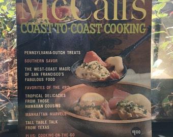 Coast to Coast Cooking Cookbook, 1965 McCalls, Full Color Photos, Mid Century Modern Recipes and Retro Illustrations, Regional American