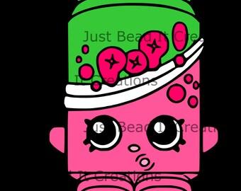 Shopkin Inspired Soda Pops Die Cut File