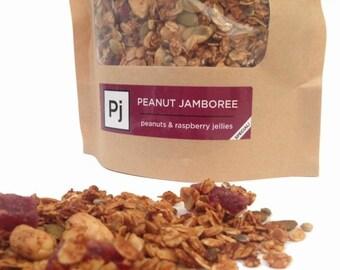 ON SALE Peanut Jamboree -- peanut & raspberry jelly granola