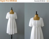 CLOSING SHOP 50% SALE / Vintage nightie. 1960s white nightie. deadstock slip dress. negligee. lingerie