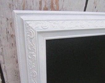 """LARGE CHALKBOARD 42""""x30"""" Magnetic Chalkboard Wedding Menu Boards Decorations Kitchen Chalkboard Blackboard White Framed Chalk board"""