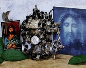 Unbreakable Holy Face Catholic Rosary - Black Onyx Rosary - Men's Rosary - Crown of Thorns Rosary