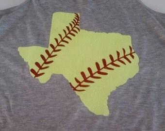 State Softball Shirt, Softball Mom Shirt, Softball Shirt, Softball Mom Bling Shirt, Softball Tank, Softball, State Shirt, Baseball Shirt,