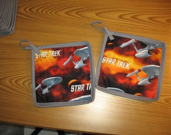 Star Trek USS Enterprise Set of 2 Potholders