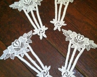 Vintage appliqes trim decorations embellishment sewing set of 4