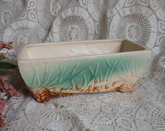 McCoy Majolica Pine Cone Planter Succulents Flower Pot Vintage at Quilted Nest