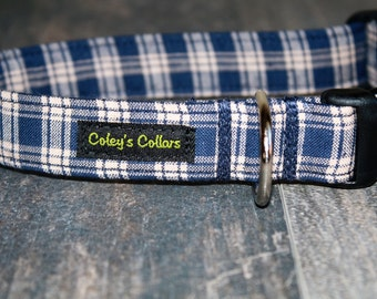 "Plaid Dog Collar ""The Payton"" Dog Collar"