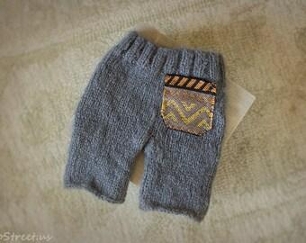 Baby Pants, Baby Diaper Cover, Newborn Props, Baby Props, Dark Gray Pants, RTS, Natural Props, Baby Boy Props, Baby Knit Pants, Wool Pants