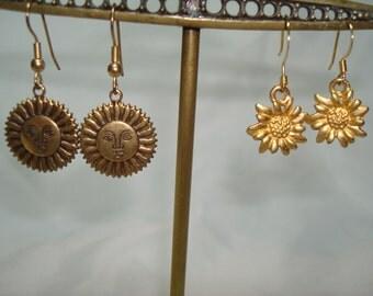 1994 Sunshine  and Flowers Pierced earrings.