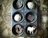Toy Muffin Tin Tiny Metal Display Pan Studio Organization