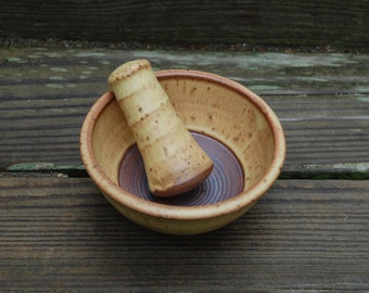 Mortar and Pestle, Hand Thrown Stoneware Pottery, by Jennie Blair, kitchen, home