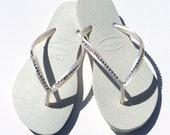 Swarovski Crystal Havaiana Bridal Flip Flops, Wedding Sandals