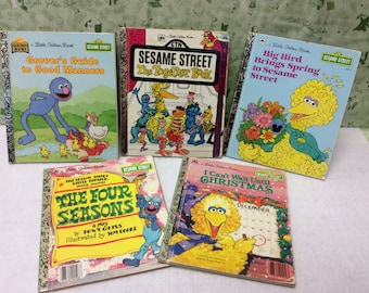5 Sesame Street Little Golden Books