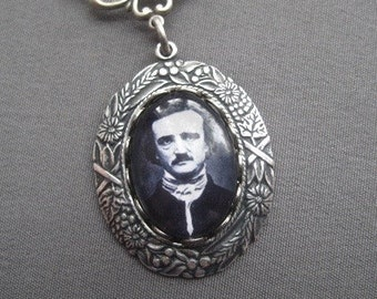 Cameo Necklace - Edgar Allan Poe Necklace - Edgar Allan Poe Jewelry - Poetry Jewelry - Literary Jewelry - Victorian Jewelry - Gothic Jewelry