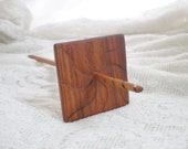 Split Notched Spindle, Carved Bolivian Rosewood and Cherry,  High Whorl Square 38g
