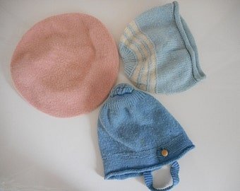 Vintage Baby Bonnets Doll Hats Baby Hats