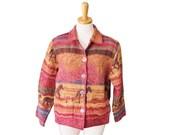 BLOWOUT 40% off sale Vintage 90s Wild Horses Tapestry Jacket - Jane Ashley - Women Medium