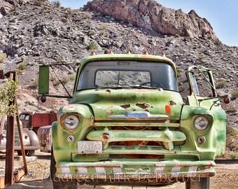 old truck photo, 1956 Chevy Truck, truck man, old truck photograph, man cave, garage, rusty truck, FastWinn, vintage truck, Nelson NV