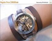 Women Watches, Watch Women, Skeleton Watch, Leather Watch, Bracelet Watch,Wrap Watch, Steampunk Watch, Mechanical Watch, Steampunk Bracelet