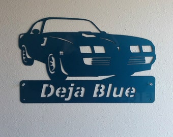 Personalized Man Cave Classic 1979 Pontiac Firebird Trans Am Garage Sign Custom Colors