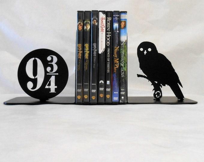 Metal Art Bookends, Movies, Books, Owl, Organizer