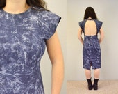 Backless dress stonewashed blue 90s grunge sexy party denim hipster indie IngridIceland spring summer