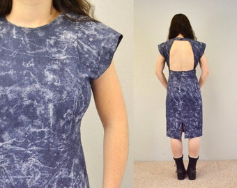 Backless dress stonewashed blue 90s grunge sexy party denim hipster indie IngridIceland spring summer