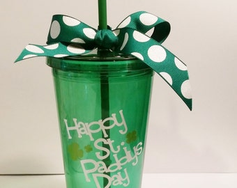 St. Patrick's Day, St. Paddy's Decals for Tumbler, Vinyl Decal Stickers, Vinyl Decals, TUMBLERS NOT INCLUDED, Shamrocks, Leprechauns