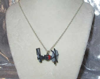 Star Wars Destroyed Tie Fighter Pendant Necklace Custom made by TorresDesigns Ready To Ship